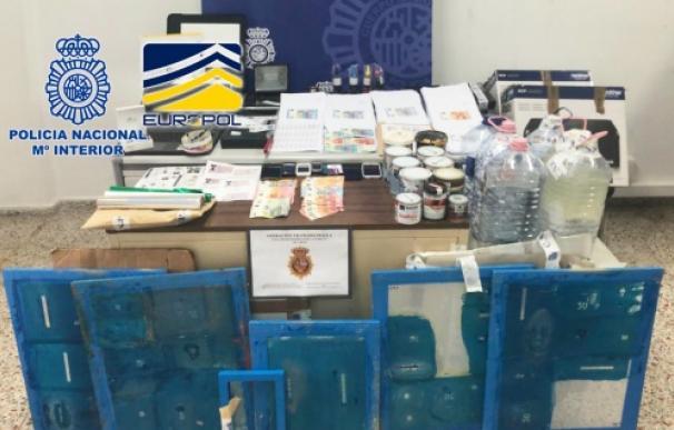 Operación contra la falsificación de moneda (Foto: Europol)
