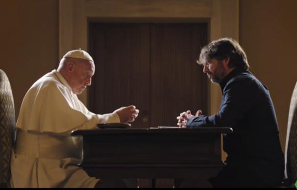 El Papa Francisco y Jordi Évole