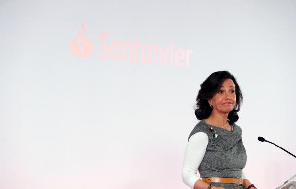 Ana Botín en la presentación de resultados del Santander