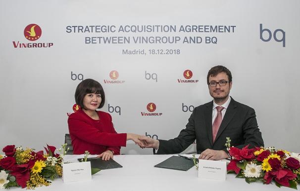 Firma del acuerdo entre BQ y Vingroup