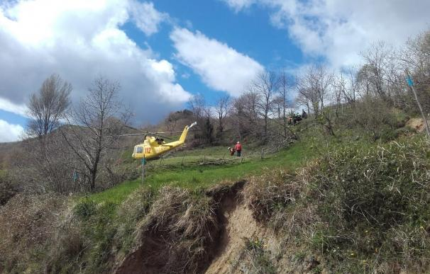 La pequeña falleció al llegar al aeropuerto Seve Ballesteros (Foto: 112)