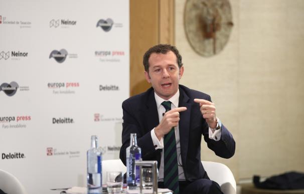 Juan Velayos, CEO de Neinor Homes, en un foro organizado por Europa Press
