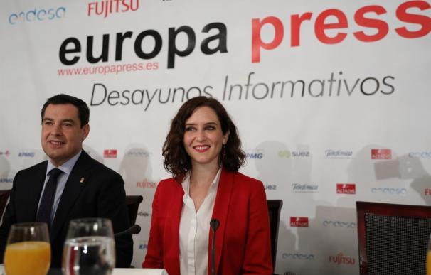 Juanma Moreno y Díaz Ayuso