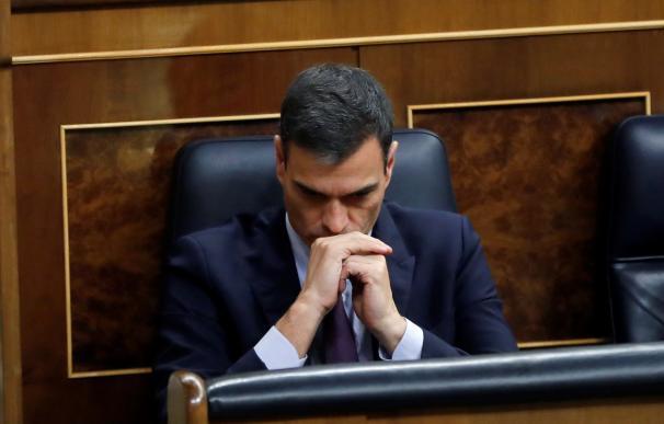 Pedro Sánchez durante el debate de totalidad de los presupuestos