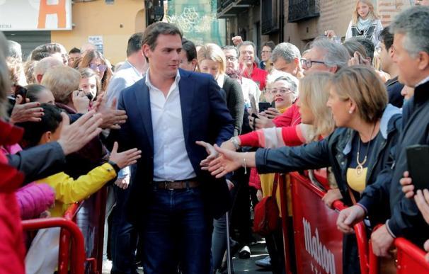 Albert Rivera en una visita a Valencia, Ciudadanos