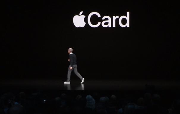 Cook,durante la presentación de Apple Card.