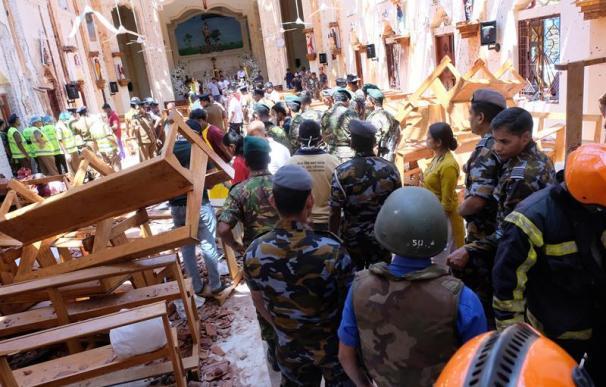 Fotografía de los destrozos de los atentados de Sri Lanka.
