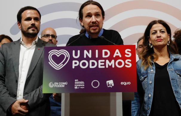 Pablo Iglesias, en su comparecencia tras las elecciones
