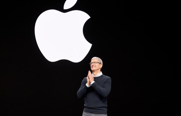 El CEO de Apple, Tim Cook, durante la presentación de Apple TV+. / Apple