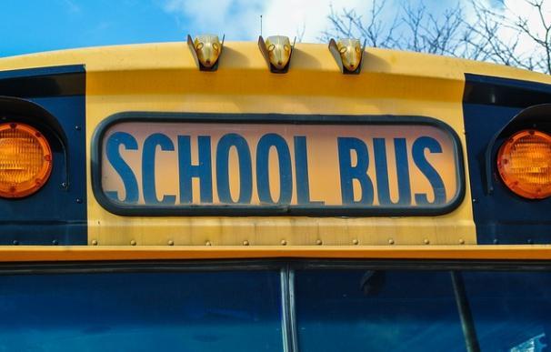 Fotografía de un autobús escolar de Estados Unidos.