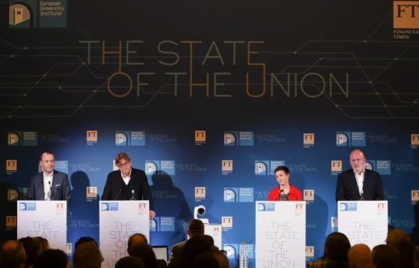 Los cuatro candidatos en Debate del estado de la Unión / State Of the Union