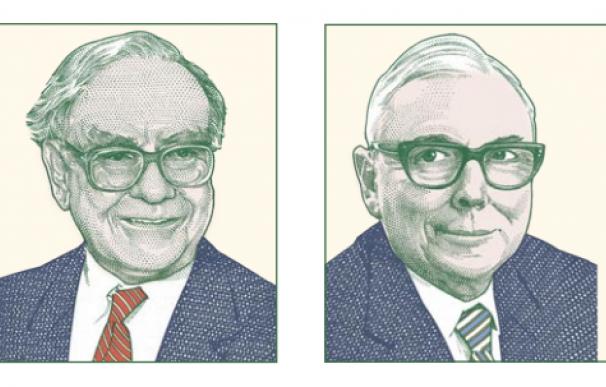 Sellos conmemorativos de Buffett y Munger.