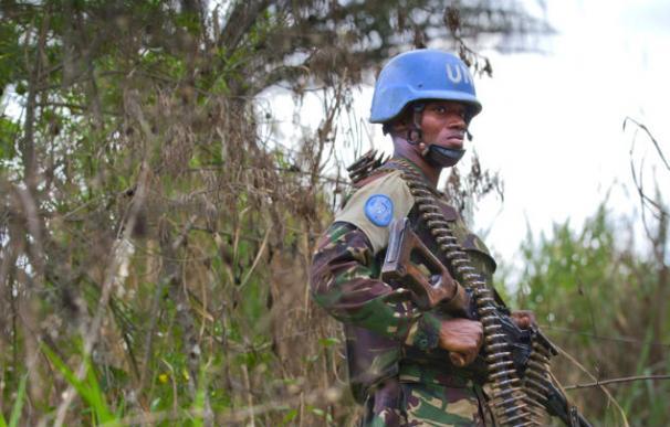 Un miembro de la fuerza de las Naciones Unidas durante una operación contra el ADF en Beni. (Foto: MONUSCO)