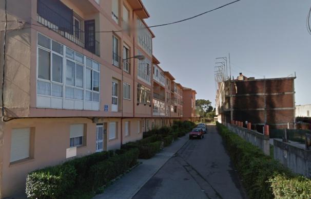 Fotografía de uno de los edificios de la zona en la que se produjo el suceso en Vilaxoán.