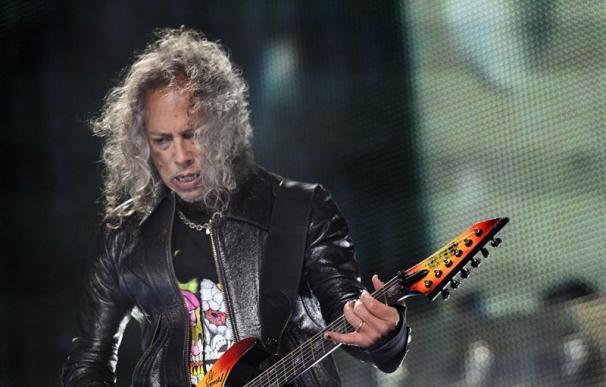 Fotografía de un momento del concierto que ofreció el grupo Metallica en Valdebebas.