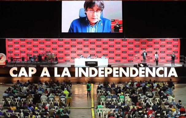 Intervención telemática de Carles Puigdemont durante la última Asamblea General Ordinaria de la ANC