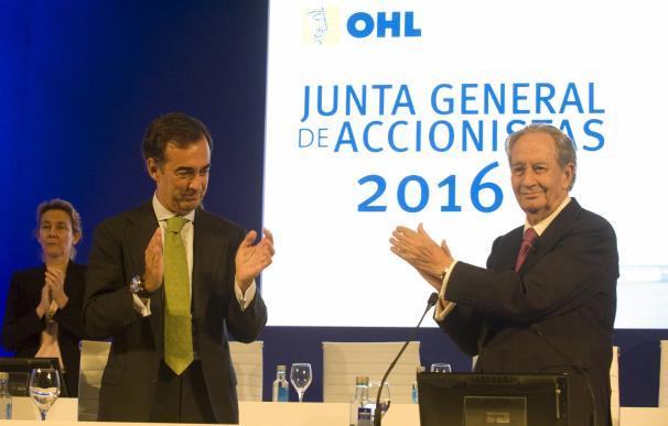 Juan Miguel Villar Mir y su hijo y sucesor en OHL