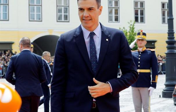 Pedro Sánchez, en la cumbre de la UE en Sibiu (Rumanía)