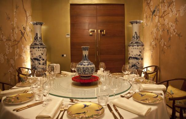 Uno de los reservados del restaurante - China Crown