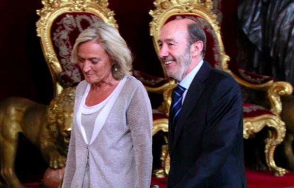 Pilar Goya y Rubalcaba en la proclamación de Felipe VI.