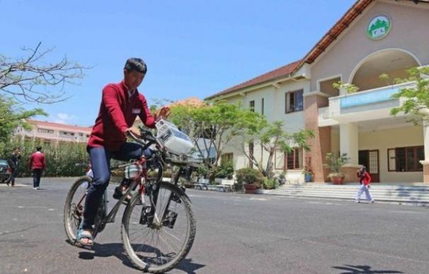 Una de las bicicletas que filtra la polución del aire
