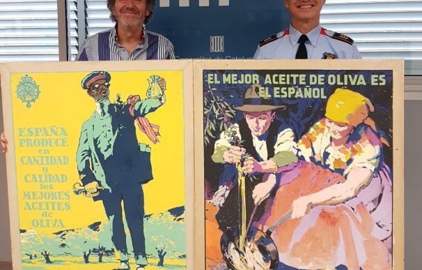 Las obras de Josep Segrelles i Albert recuperadas. / Mossos