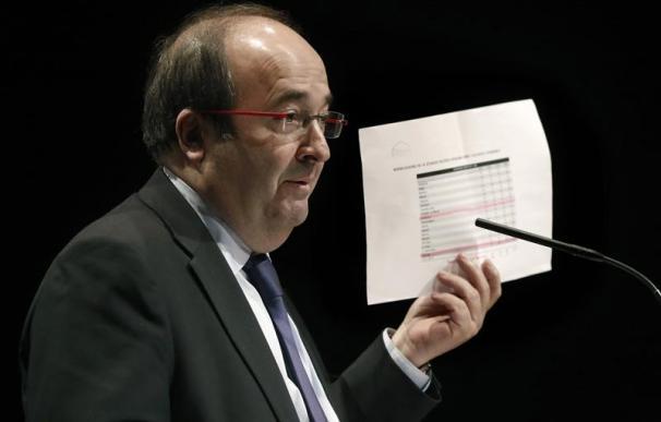 Miquel Iceta, durante la rueda de prensa de este miércoles
