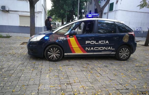 Un coche de la Policía Nacional en Palma