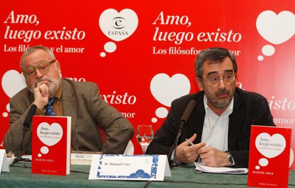 Manuel Cruz dice que el aumento de exigencia lleva al amor a un callejón sin salida