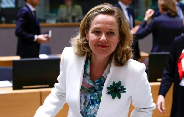 Nadia Calviño, en el Ecofin