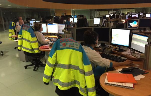 El 112 ha derivado el aviso a los bomberos de la Comunidad de Madrid y al SUMMA. /@112cmadrid