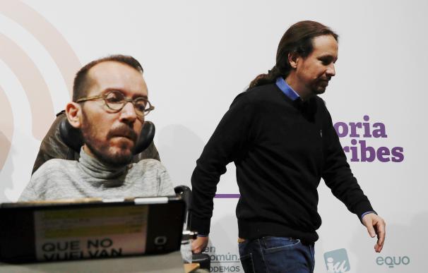 Pablo Iglesias y Pablo Echenique, dos de los fundadores de Podemos