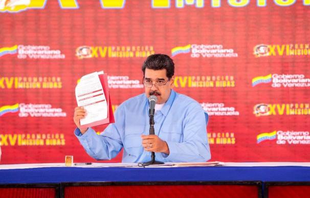 Nicolás Maduro en un acto de promoción educativa. /Prensa Miraflores