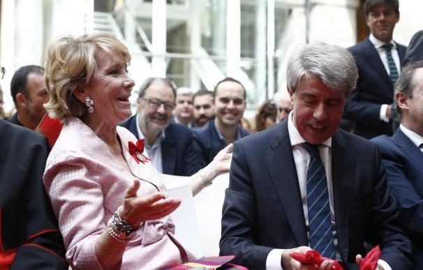 Esperanza Aguirre y Ángel Garrido, en el Dos de Mayo