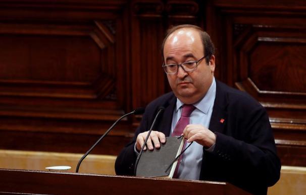 Miquel Iceta en el Parlament