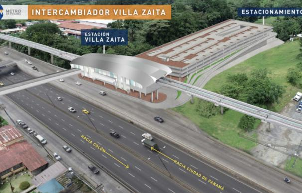 Proyecto de extensión de la Línea 1 hasta Villa Zaita. / Metro de Panamá