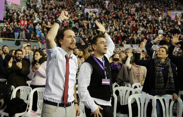 Iglesias y Monedero en el Congreso de Podemos, Vistalegre II