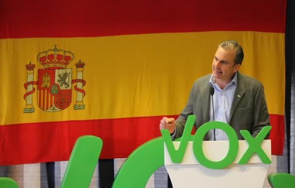 El secretario general de Vox, Javier Ortega Smith, en un acto en Cuenca