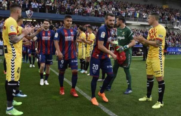 Una imagen del Huesca-Nàstic de la 2017-2018