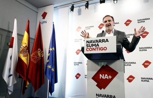 El candidato de Navarra Suma, Javier Esparza