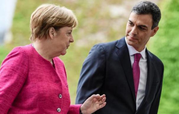 Ángela Merkel y Pedro Sánchez / EFE