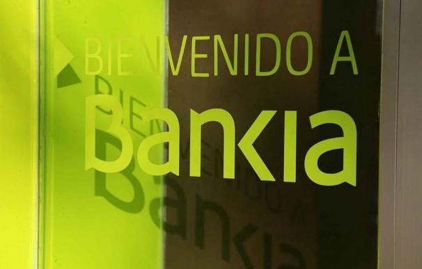 Letrero de una sucursal de Bankia