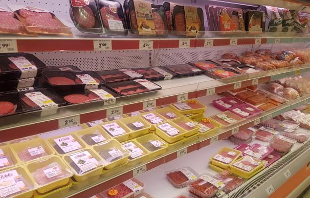 Lineal de 'Burger Meat' de un supermercado