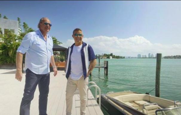 Bertín Osborne y Alejandro Sanz en Miami.