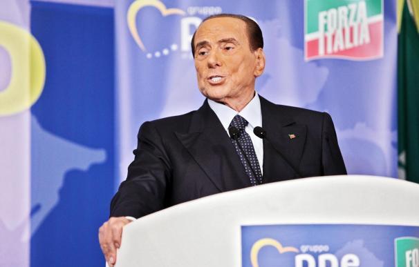 El presidente de Forza Italia, Silvio Berlusconi, durante un acto en Fiuggi, Italia, el 23 de septiembre de 2018. (EFE / EPA / FEDERICO PROIETTI)