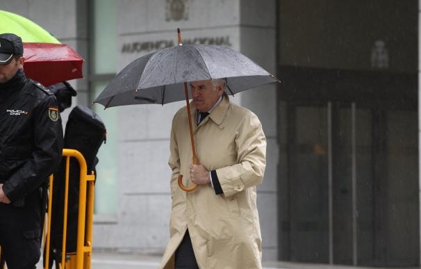 Luis Bárcenas, a su llegada a una de sus comparecencias en la Audiencia Nacional