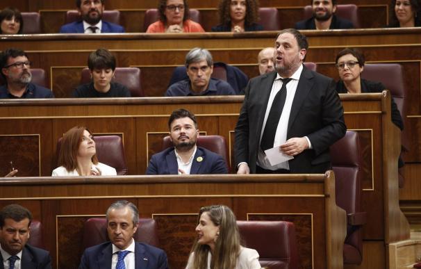 Oriol Junqueras jura en el Congreso