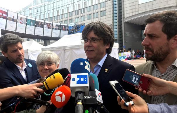 El expresidente de la Generalitat huido a Bélgica y cabeza de lista de JxCat al Parlamento Europeo, Carles Puigdemont. /EFE