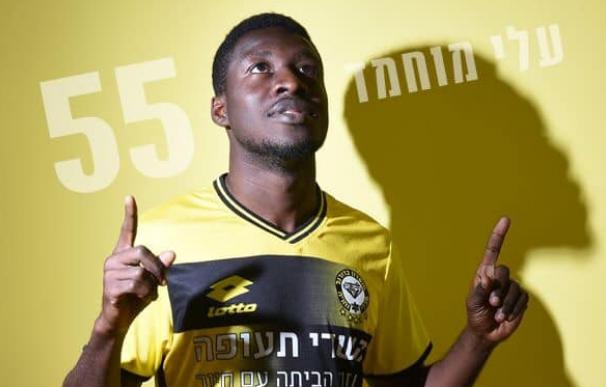 Ali Mohamed tras fichar por el Beitar Jerusalem. /Facebook