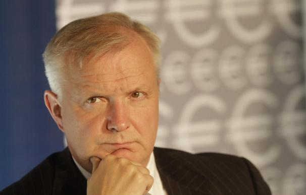 El comisario europeo de Asuntos Económicos, Olli Rehn, se muestra por fin optimista con España.